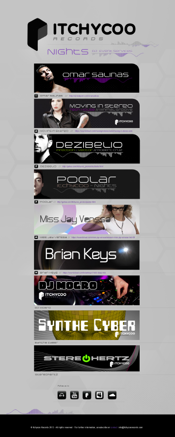 Itchycoo Artists and DJs